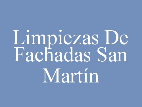 Limpiezas De Fachadas San Martín