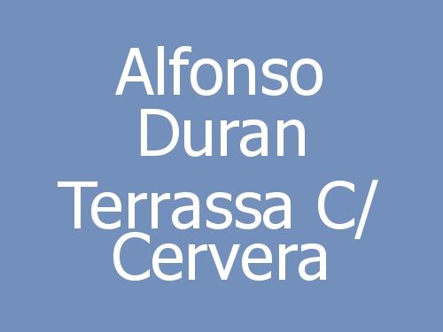 Alfonso Duran Terrassa c/ Cervera