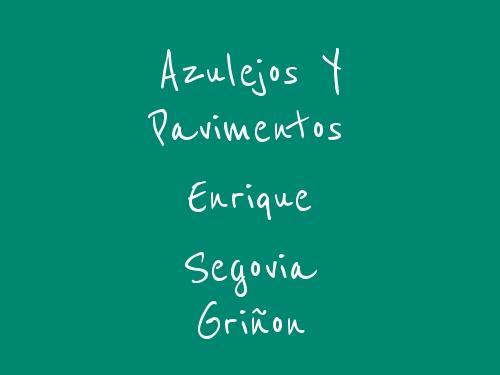Azulejos y Pavimentos Enrique Segovia Griñon