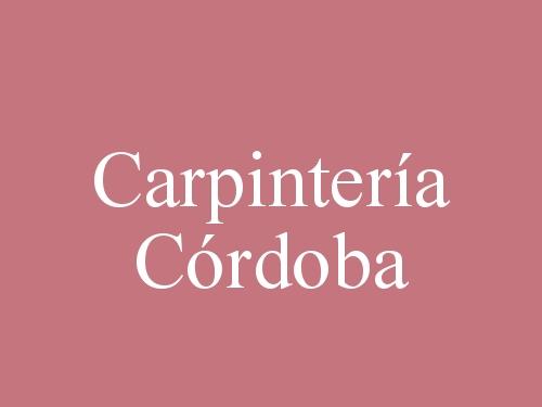Carpintería Córdoba