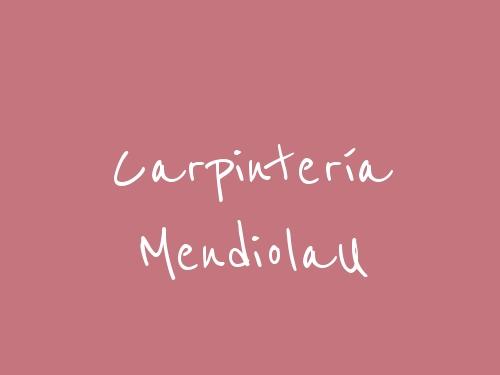 Carpintería MendiolaU