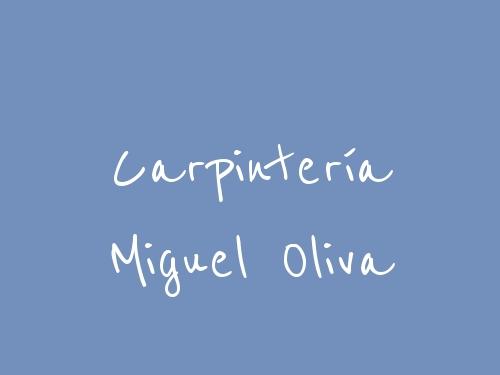 Carpintería Miguel Oliva