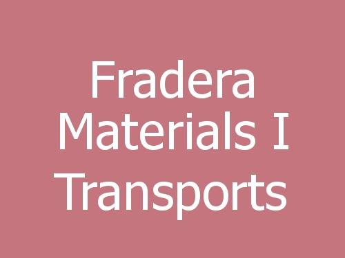 Fradera Materials i Transports
