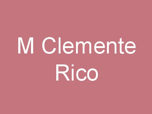 M Clemente Rico