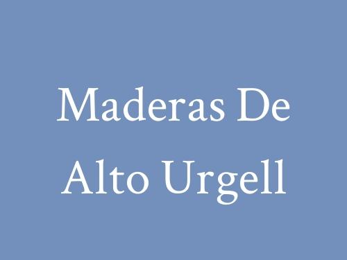 Maderas de Alto Urgell