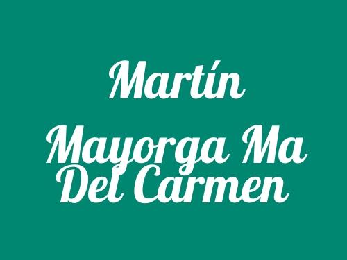 Martín Mayorga Ma del Carmen