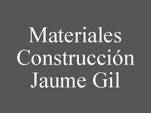 Materiales Construcción Jaume Gil