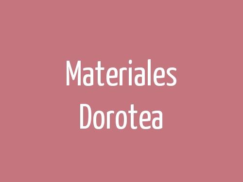 Materiales Dorotea