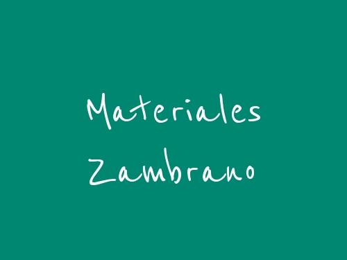 Materiales Zambrano