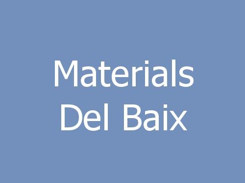 Materials del Baix