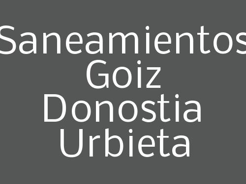 Saneamientos Goiz Donostia Urbieta