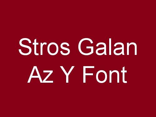 Stros Galan Az y Font