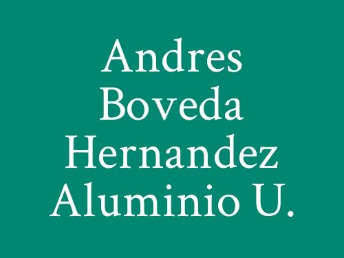 Andres Boveda Hernandez Aluminio   U.