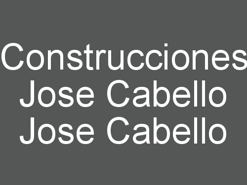 Construcciones Jose Cabello