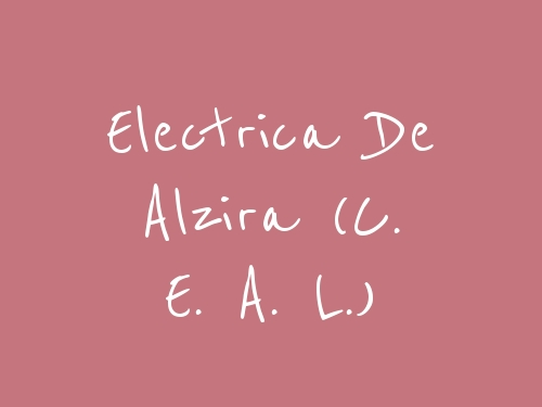 Electrica De Alzira (C. E. A. L.)