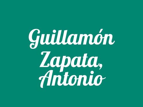 Guillamón Zapata, Antonio