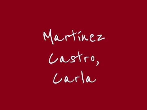 Martínez Castro, Carla
