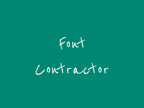 Font Contractor