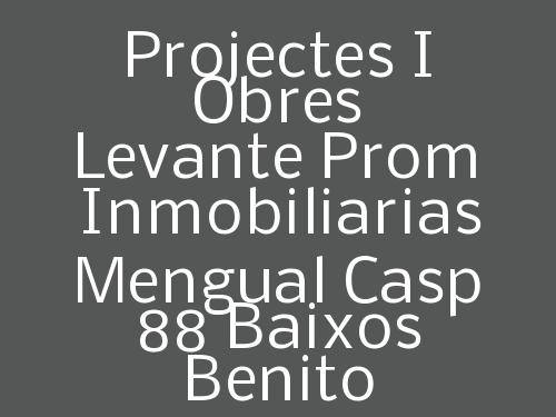 Projectes i Obres Levante Prom Inmobiliarias Mengual Casp 88 baixos Benito