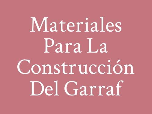 Materiales para la Construcción del Garraf
