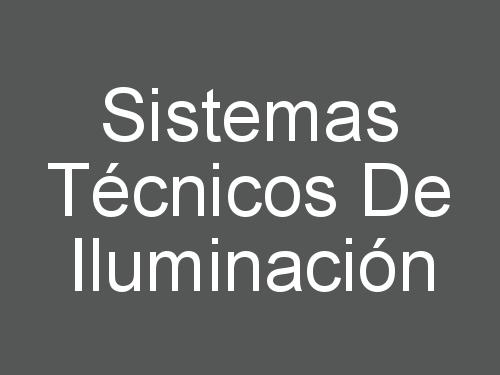 Sistemas Técnicos de Iluminación