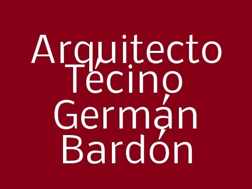 Arquitecto Técino Germán Bardón