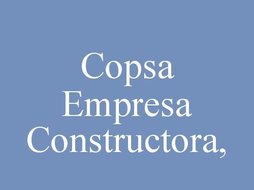 Copsa Empresa Constructora,