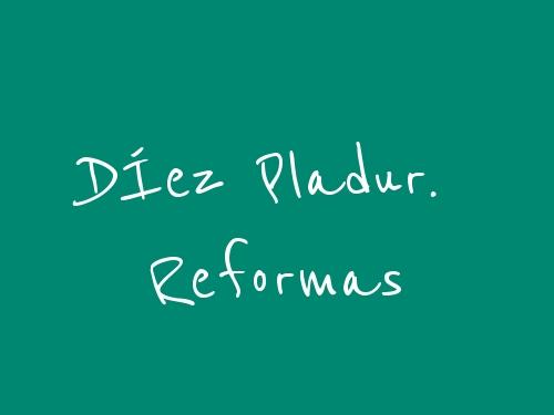 DÍez Pladur. Reformas
