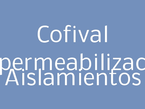 Cofival Impermeabilización Aislamientos