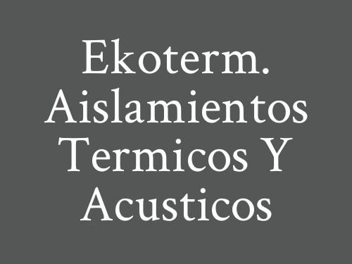 Ekoterm. Aislamientos Termicos y Acusticos