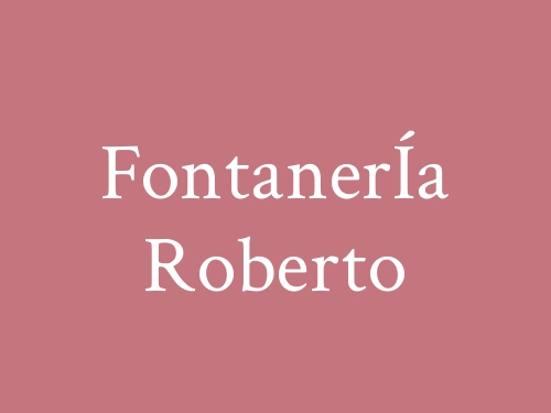 FontanerÍa Roberto