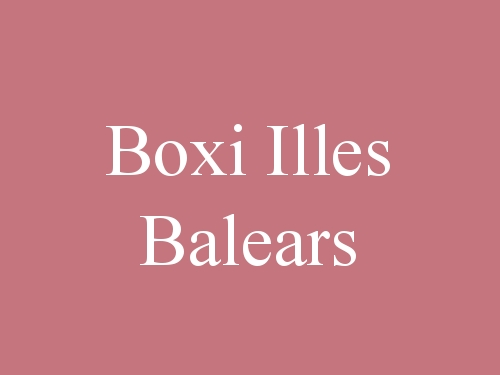 Boxi Illes Balears