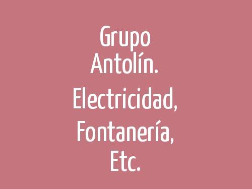 Grupo Antolín. Electricidad, Fontanería, Etc.