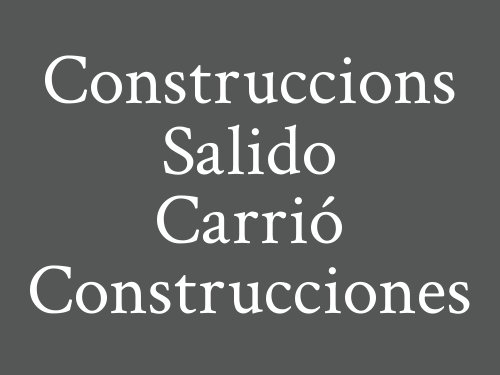 Construccions Salido Carrió Construcciones