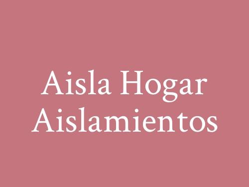 Aisla Hogar Aislamientos