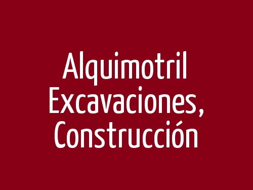Alquimotril  Excavaciones,  Construcción