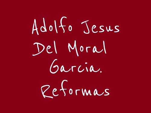 Adolfo Jesus Del Moral Garcia. Reformas