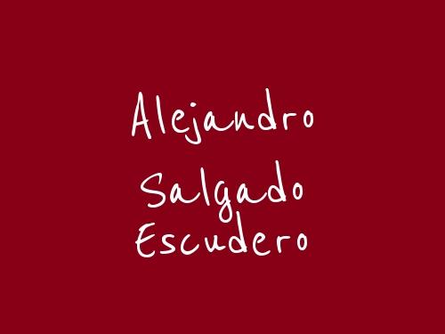 Alejandro Salgado Escudero