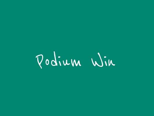 Podium win