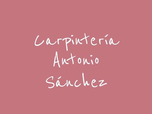 Carpintería Antonio Sánchez
