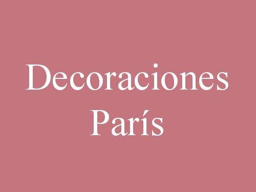 Decoraciones París
