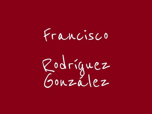 Francisco Rodríguez González