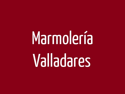 Marmolería Valladares
