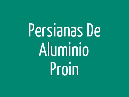 Persianas De Aluminio Proin