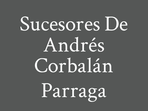 Sucesores de Andrés Corbalán Parraga