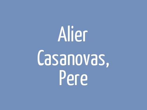 Alier Casanovas, Pere