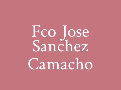Fco Jose Sanchez Camacho