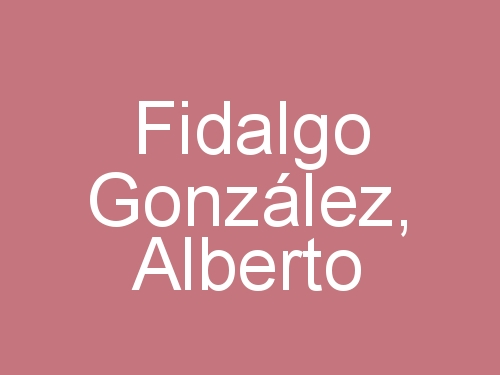 Fidalgo González, Alberto