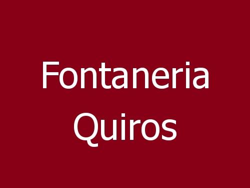 Fontaneria Quiros