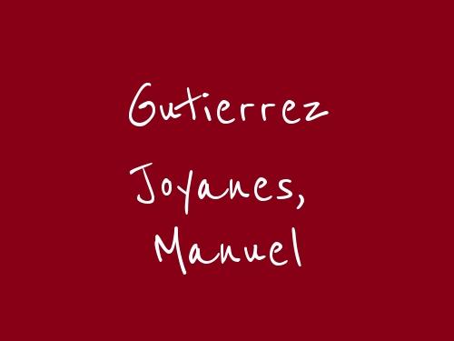 Gutierrez Joyanes, Manuel